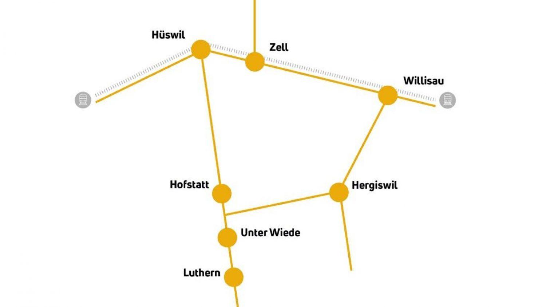 Taxitonetz Luzerner Hinterland